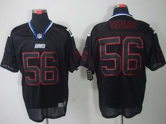Mens Nfl New York Giants #56 Taylor Black (lights Out) Elite Jersey