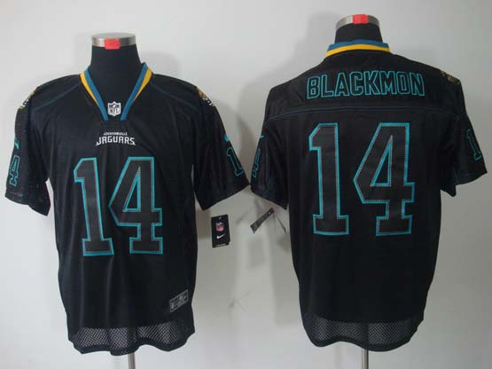 Mens Nfl Jacksonville Jaguars #14 Blackmon Black (light Out) Elite Jersey