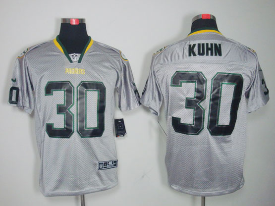 Mens Nfl Green Bay Packers #30 Kuhn Gray (light Out) Elite Jersey