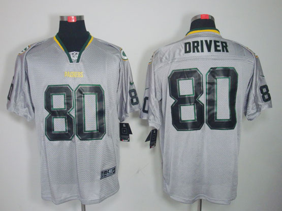 Mens Nfl Green Bay Packers #80 Driver Gray (light Out) Elite Jersey