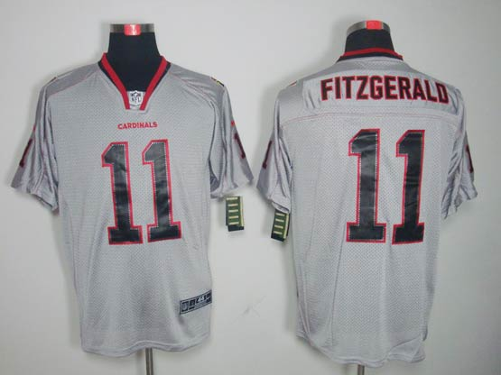Mens Nfl Arizona Cardinals #11 Larry Fitzgerald Gray (lights Out) Elite Jersey