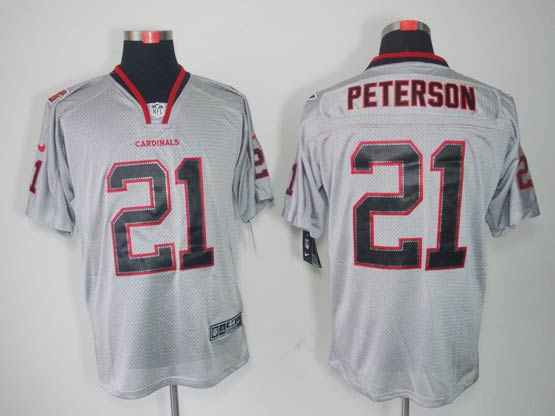 Mens Nfl Arizona Cardinals #21 Patrick Peterson Gray (lights Out) Elite Jersey