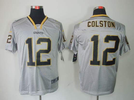 Mens Nfl New Orleans Saints #12 Colston Gary (lights Out) Elite Jersey