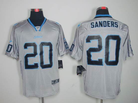 mens nfl Detroit Lions #20 Barry Sanders gray (light out) elite jersey