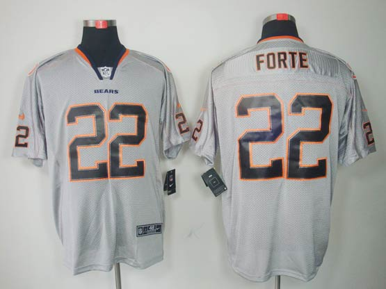 Mens Nfl Chicago Bears #22 Forte Gray (light Out) Elite Jersey