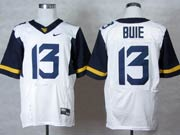 Mens Ncaa Nfl Virginia Mountaineers #13 Bule White Elite Jersey Gz