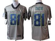 Mens Nfl Seattle Seahawks #81 Tate Gray Shadow Elite Jersey