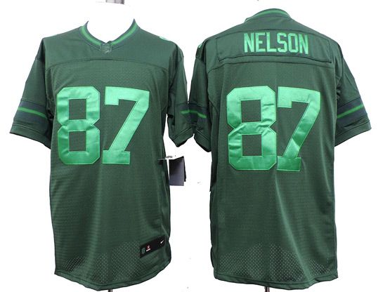 Mens Nfl Green Bay Packers #87 Nelson Green (wet Version) Limited Jersey