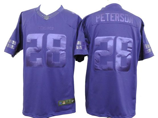 Mens Nfl Minnesota Vikings #28 Peterson Purple (wet Version) Limited Jersey