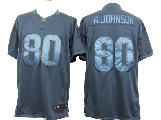 Mens Nfl Houston Texans #80 A.johnson Blue (wet Version) Limited Jersey