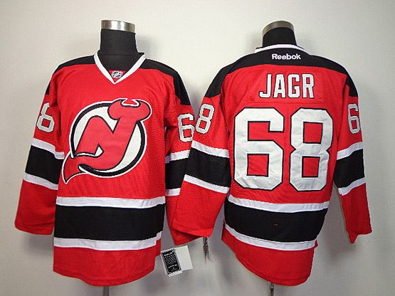 Mens reebok nhl new jersey devils #68 jagr red Jersey