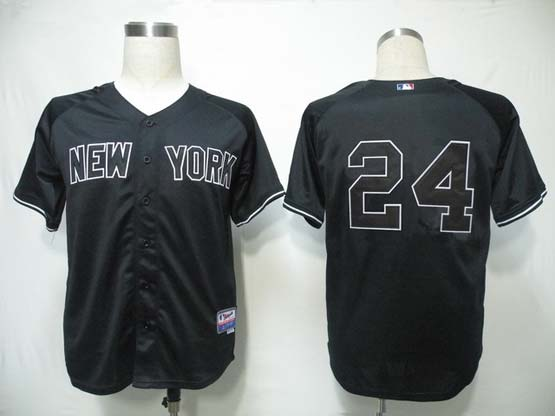 mens mlb new york yankees #24 cano black Jersey (no name)