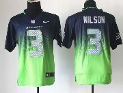 Mens Nfl Seattle Seahawks #3 Wilson Blue&green Drift Fashion Ii Elite Jersey