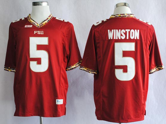 Mens Ncaa Nfl Florida State Seminoles #5 Winston Red (fsu) Jersey Gz