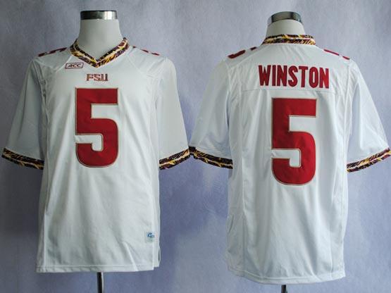 Mens Ncaa Nfl Florida State Seminoles #5 Winston White (fsu) Jersey Gz