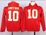 Mens Nfl Washington Redskins #10 Griffin Iii Red Hoodie Jersey