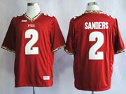 Mens Ncaa Nfl Florida State Seminoles #2 Sanders Red (fsu) Jersey Gz