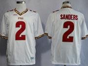 Mens Ncaa Nfl Florida State Seminoles #2 Sanders White (fsu) Jersey Gz