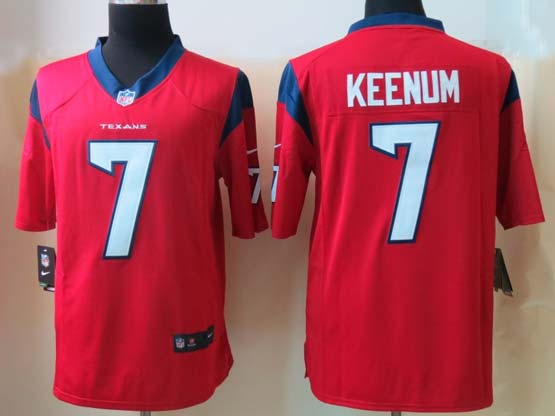 Mens Nfl Houston Texans #7 Keenum Red Game Jersey