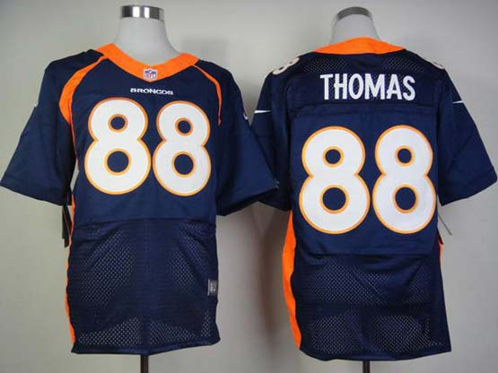 Mens Nfl Denver Broncos #88 Thomas Blue (2013 New) Elite Jersey