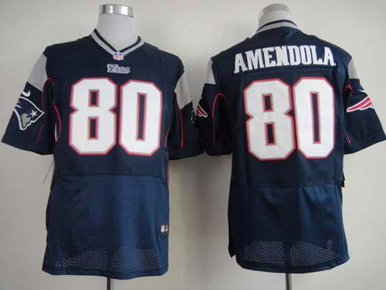Mens Nfl New England Patriots #80 Amendola Blue Elite Jersey