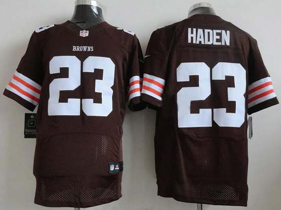 Mens Nfl Cleveland Browns #23 Haden Brown Elite Jersey