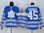 Mens reebok nhl toronto maple leafs #45 bernier blue (2014 winter classic) Jersey