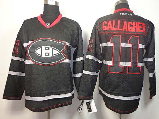 Mens reebok nhl montreal canadiens #11 gallagher black (ch) Jersey