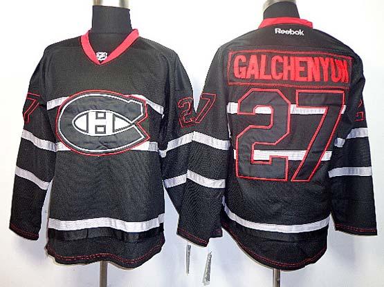 Mens reebok nhl montreal canadiens #27 galchenyuk black (ch) Jersey