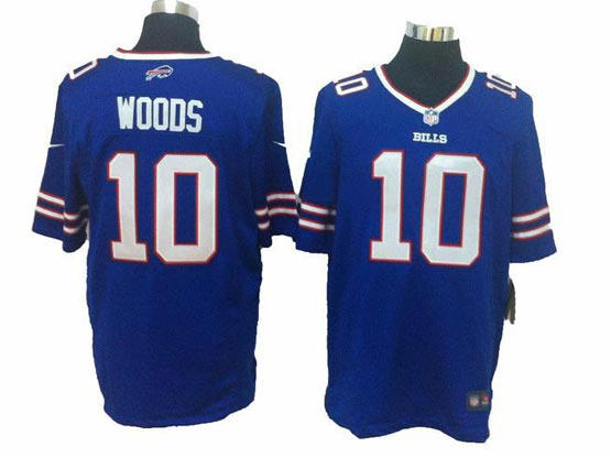 mens nfl Buffalo Bills #10 Robert Woods blue (2013 new) game jersey