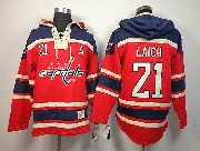 Mens nhl washington capitals #21 laich red hoodie Jersey