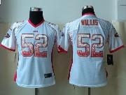 Women  Nfl San Francisco 49ers #52 Willis Drift Fashion White Elite Jersey