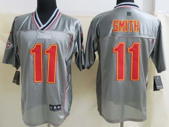 Mens Nfl Kansas City Chiefs #11 Smith Gray Vapor (2013 New) Elite Jersey