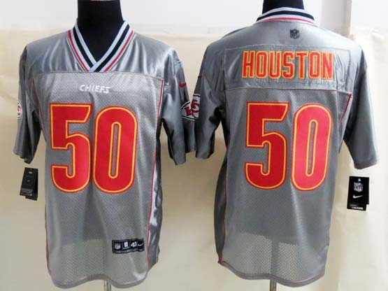 Mens Nfl Kansas City Chiefs #50 Houston Gray Vapor (2013 New) Elite Jersey
