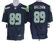 Mens Nfl Seattle Seahawks #89 Baldwin Dark Blue Elite Jersey