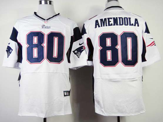 Mens Nfl New England Patriots #80 Amendola White Elite Jersey