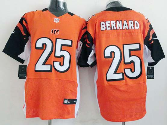 Mens Nfl Cincinnati Bengals #25 Bernard Orange Elite Jersey