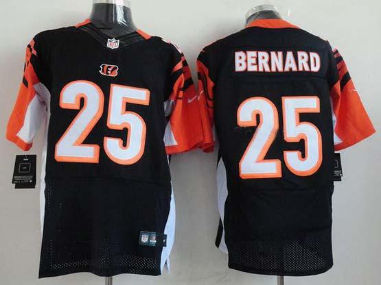 Mens Nfl Cincinnati Bengals #25 Bernard Black Elite Jersey