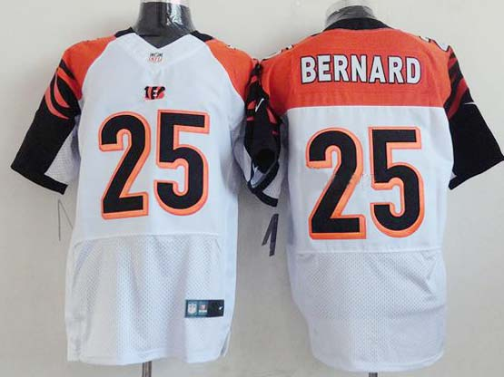 Mens Nfl Cincinnati Bengals #25 Bernard White Elite Jersey
