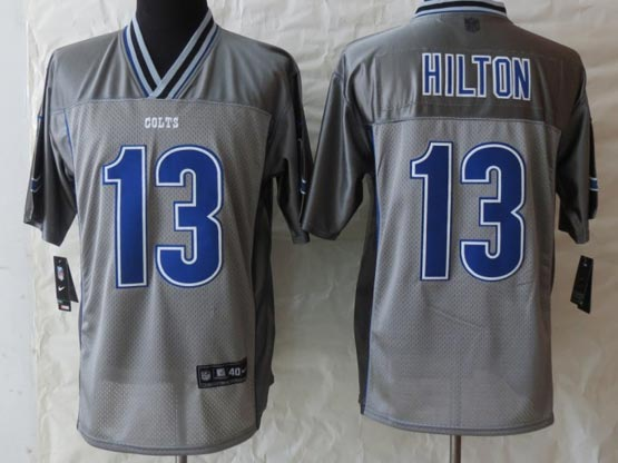 Mens Nfl Indianapolis Colts #13 Hilton Gray Vapor (2013 New) Elite Jersey