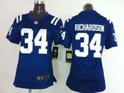 Women  Nfl Indianapolis Colts #34 Richardson Blue Game Jersey