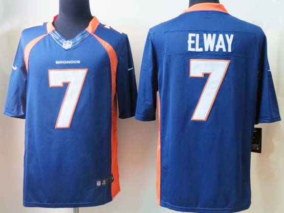 Mens Nfl Denver Broncos #7 Elway Blue Limited Jersey