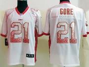 Mens Nfl San Francisco 49ers #21 Gore Drift Fashion White Elite Jersey