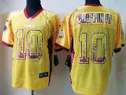 Mens Nfl Washington Redskins #10 Griffin Iii Drift Fashion Yellow Elite Jersey