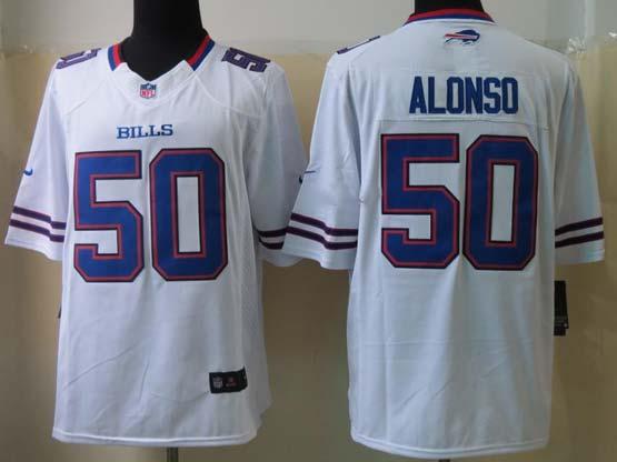 Mens Nfl Buffalo Bills #50 Alonso White Limited Jersey