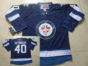 Mens reebok nhl winnipeg jets #40 setoguchi dark blue Jersey