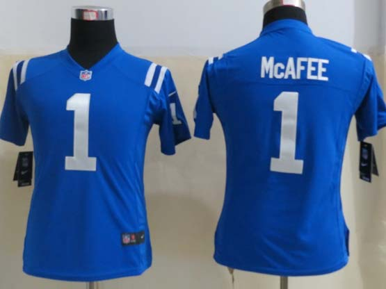 Women  Nfl Indianapolis Colts #1 Mcafee Blue Game Jersey