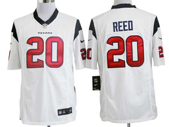 Mens Nfl Houston Texans #20 Reed White Game Jersey