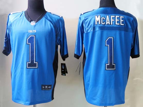 Mens Nfl Indianapolis Colts #1 Mcafee Drift Fashion Blue Elite Jersey