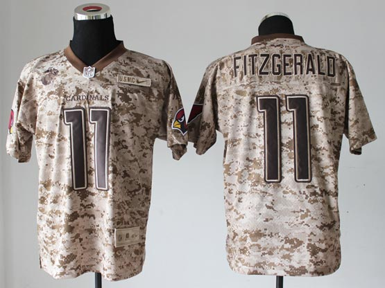 Mens Nfl Arizona Cardinals #11 Larry Fitzgerald Camo Us Mccuu Jersey